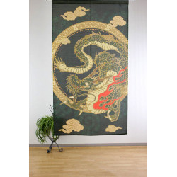 Japanese noren polyester curtain, RYU TO KUMO