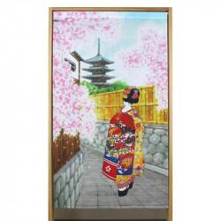 Japanese noren polyester curtain, GEISHA
