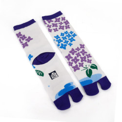 Japanese tabi cotton socks, AJISAI