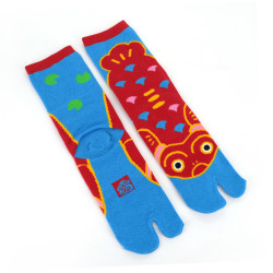 Japanese tabi cotton socks, KOI