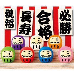 Gomme japonaise, DARUMA IWAKO, couleur au hasard