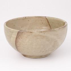tazón de sopa japonés de cerámica, BEJI, beis