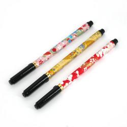 Handmade pen with brush tip, EDO, random colour