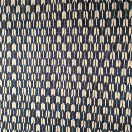 Japanese blue cotton fabric with arrow motif, YAGASURI, made in Japan width 112 cm x 1m