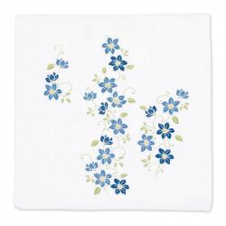 Mouchoir japonais, KUREMACHISU, Clématite blue