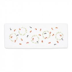 Petite Serviette japonaise, KINGYO, Poisson rouge