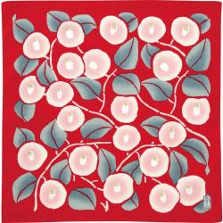 Furoshiki japonais, YUMEJI TAKEHISA, Camélias rouge