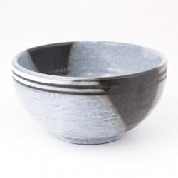 tazón de sopa japonés de cerámica, UMI, azul