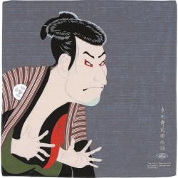 Japanese Furoshiki in Chirimen rayon, UKIYO-E, Sharaku