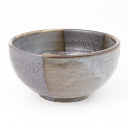 Japanese ceramic soup bowl gray 51538034