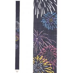 Fine tapisserie japonaise en chanvre peinte à la main, HANABI