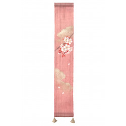 Hemp tapestry, hand painted, SAKURA