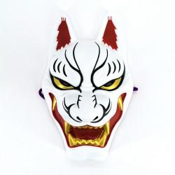 Traditional Japanese fox mask, KITSUNE OSORE, white