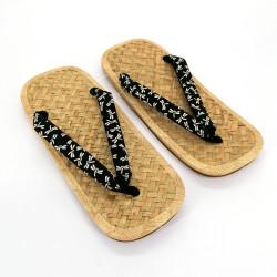 pair of Japanese sandals - Zori straw bamboo for men, TOMBO