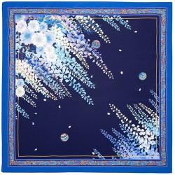 Japanese polyester furoshiki, HIYASHINSU, blue