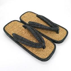 pair of Japanese sandals zori seagrass, DOT
