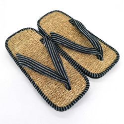 pair of Japanese sandals zori seagrass, LINE