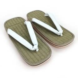 pair of Japanese zori sandals, ZORI WH, white