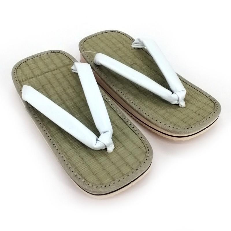pair of Japanese zori sandals, ZORI WH, white