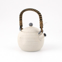 Japanese ceramic teapot, SHIRO, White