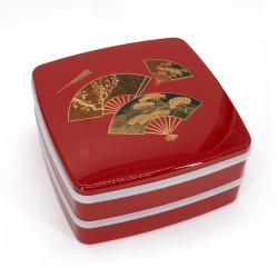 Fiambrera grande jyubako, MIYABI, roja