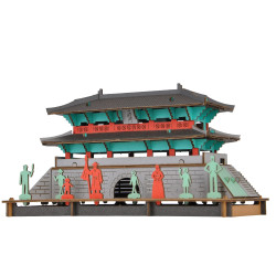 Mini cardboard mockup, NAMDAEMUN, Great South Gate of Seoul, Made in Japan