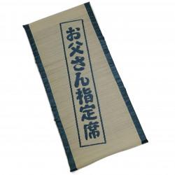 Traditional Japanese rice straw mattress, foldable - YAMATO, blue, 70x150cm