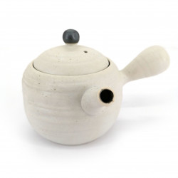 Japanese ceramic teapot, SHIROMARU, White