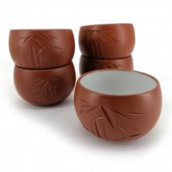 set of 5 japanese teacups tokoname 16M97543