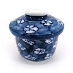 japanese tea bowl with lid - chawanmushi - UME plum blossoms