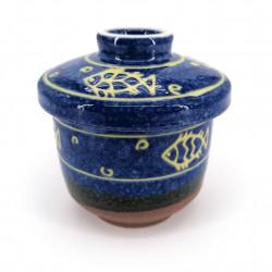 Japanese Chawanmushi tea bowl with lid - SAKANA
