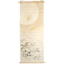 tapicería japonesa - Kakemono de lino japonés MOON