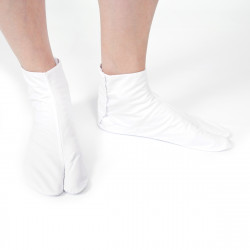pair of japanese socks, COTTON TABI, white