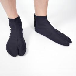 pair of japanese socks, COTTON TABI, black