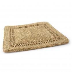 coussin carré Zabuton en paille de riz 039