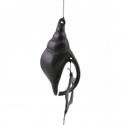 chime - cast iron wind bell from Japan, HORAGAI, shell