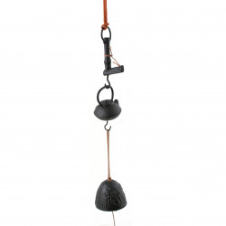chime - cast iron wind bell from Japan, JIZAIKAGI, tea-pot