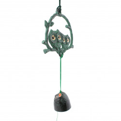 chime - cast iron wind bell from Japan, FURUKO, owl
