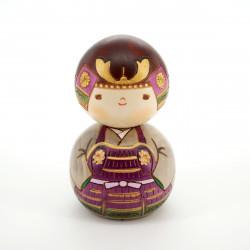 Japanese kokeshi doll the boy in the helmet, KABUTO-KUN
