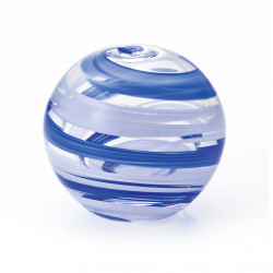 japanese glass vase, UMIKAZE, blue