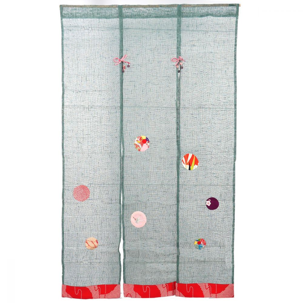 Japanese curtain NOREN cotton 90% silk 10%
