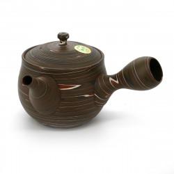 japanese kyusu teapot earth Tokoname, UZUMAKI, multicolour