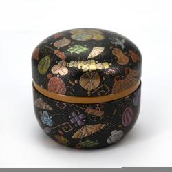Japanese tea box made of washi paper, SUZUKO TAMAORI, black