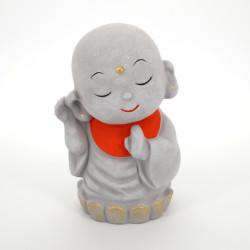 Japanese ceramic money box, JIZO-L, monk