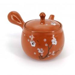 Tetera japonesa - kyusu – Tokoname, SAKURA, flores de ciruelo