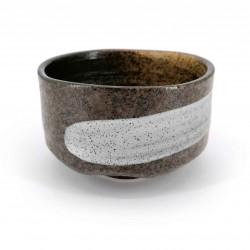 Japanese tea bowl for ceremony - chawan, BARASHI, brown