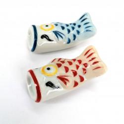 soporte de palillos japones de cerámica carpa pescado, KOI, elección de color