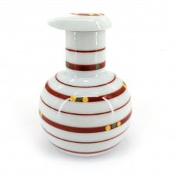 traditional japanese pot for soy sauce, SUKITTO JIRUJI, red