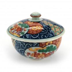 japanese tea bowl with lid - chawanmushi - KOIMARI flowers