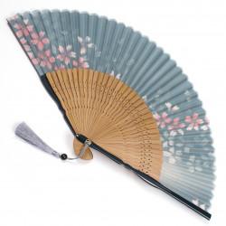 éventail japonais en soie et bambou SAKURA 4722